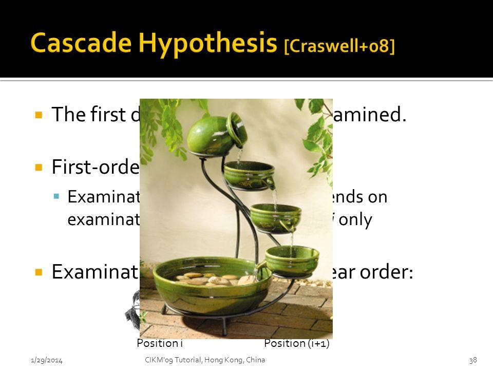 Cascade Hypothesis [Craswell+08]